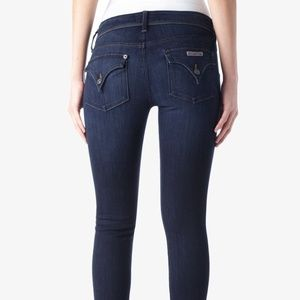 HUDSON Raw Hem Collin Mid Rise Ankle Jeans